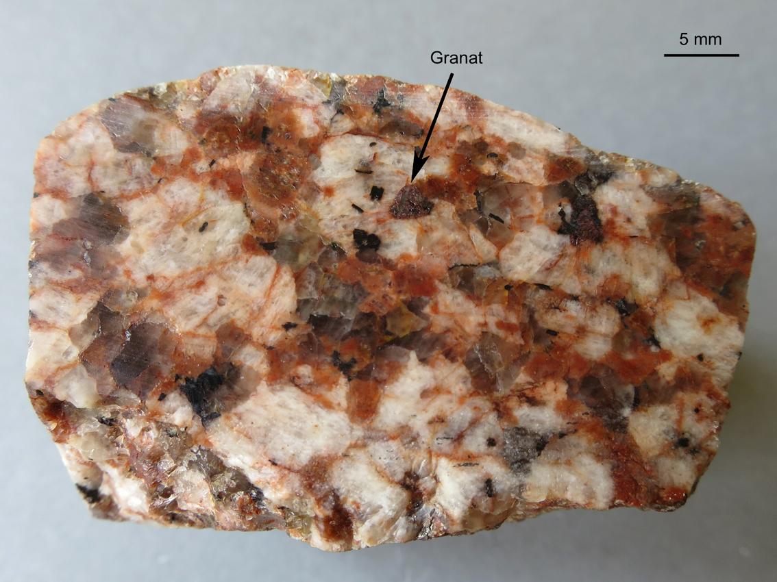Granit Bestandteile kristalline geschiebe aus der kfh bei potsdam geologische streifzüge